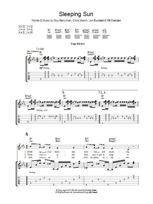 Sleeping Sun (Guitar Tab)