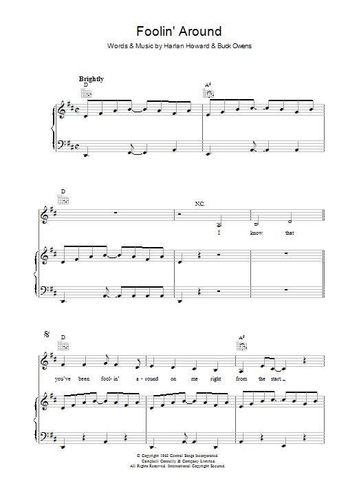 Foolin' Around (Piano, Vocal & Guitar)