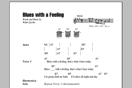 Blues With A Feeling (Guitar Chords/Lyrics)