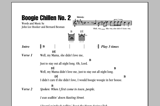 Boogie Chillen No. 2 Sheet Music