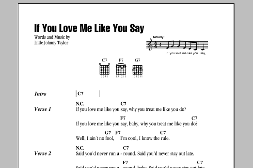 If You Love Me Like You Say (Guitar Chords/Lyrics)