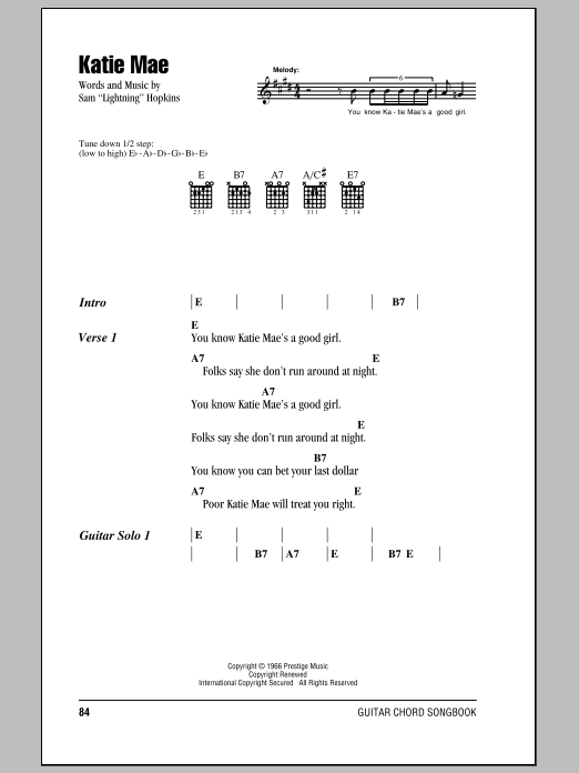 Katie Mae Sheet Music