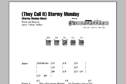 (They Call It) Stormy Monday (Stormy Monday Blues) Sheet Music