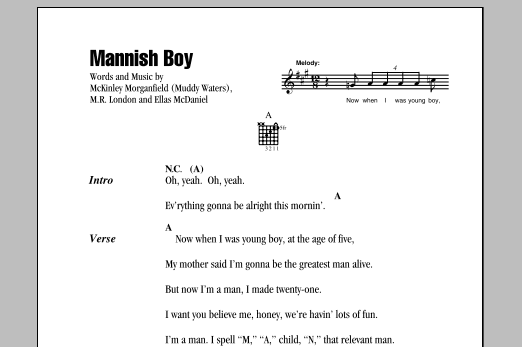 Mannish Boy Sheet Music