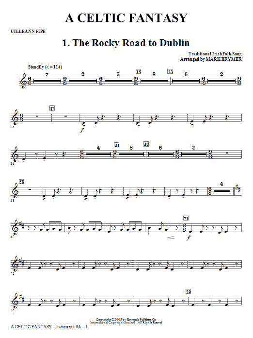 A Celtic Fantasy - Uilleann Pipe/Scottish D Pipes Sheet Music