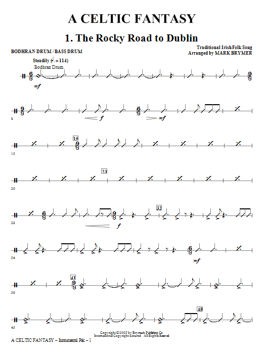 A Celtic Fantasy - Bodhran Drum/Bass Drum Sheet Music