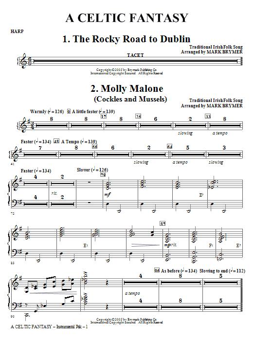 A Celtic Fantasy - Harp (Choir Instrumental Pak)