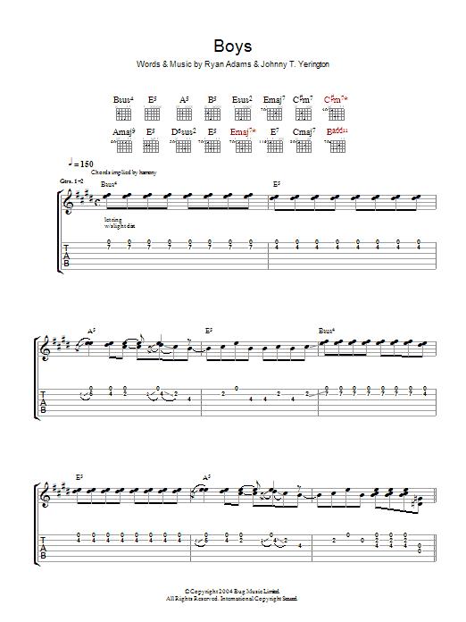 Boys (Guitar Tab)