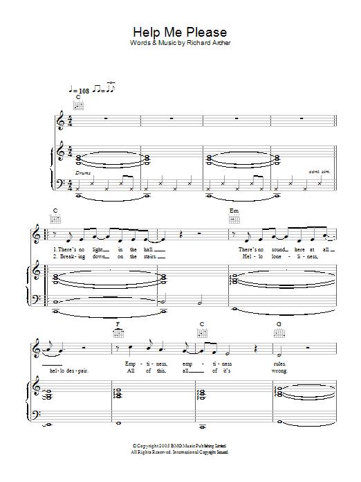 Help Me Please Sheet Music