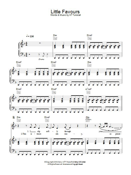Little Favours (Piano, Vocal & Guitar)