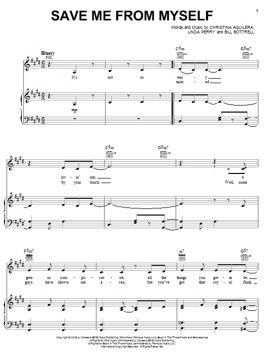 Save Me From Myself Sheet Music