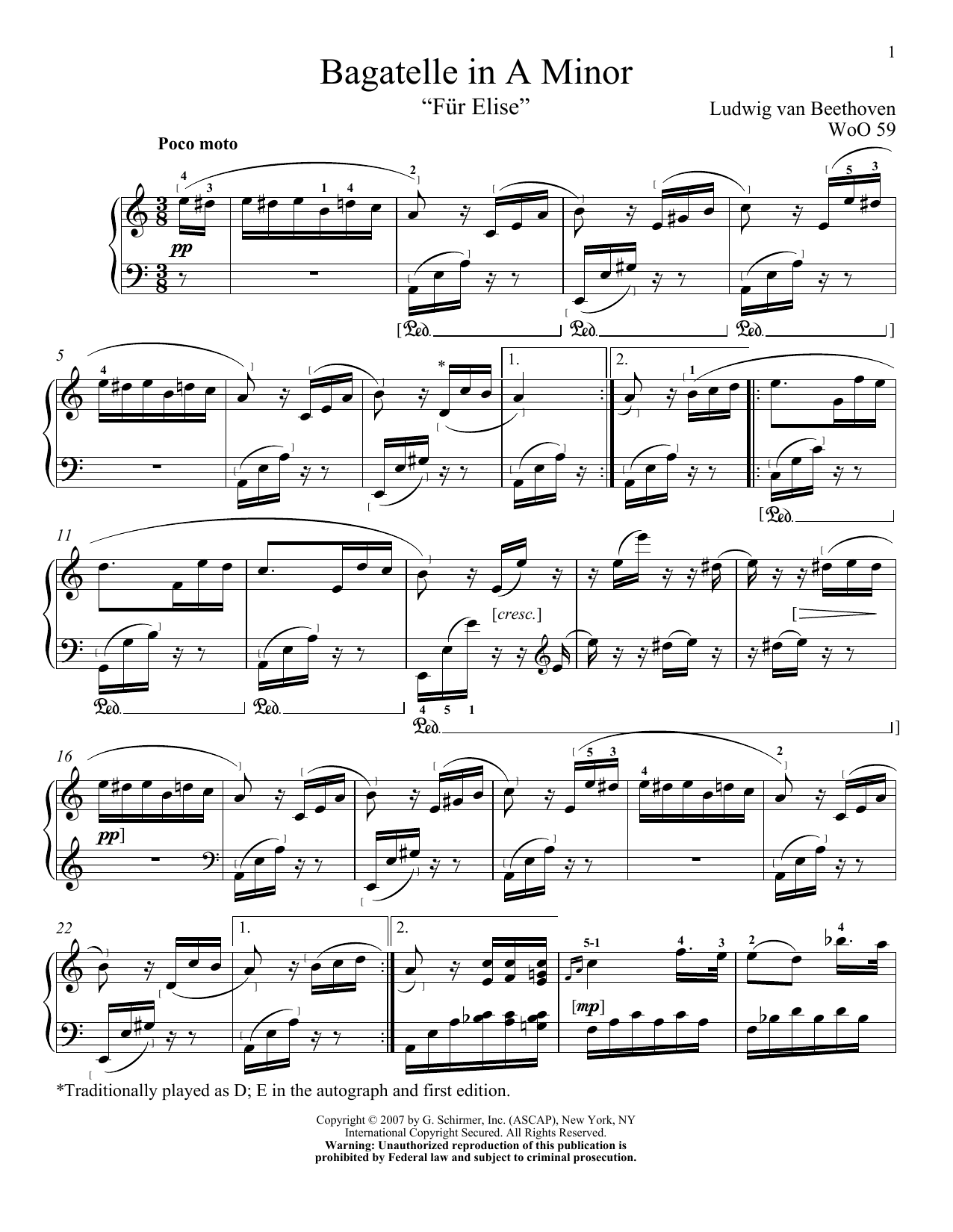 Piano fur elise piano tabs : Fur Elise sheet music by Ludwig van Beethoven (Piano – 62458)