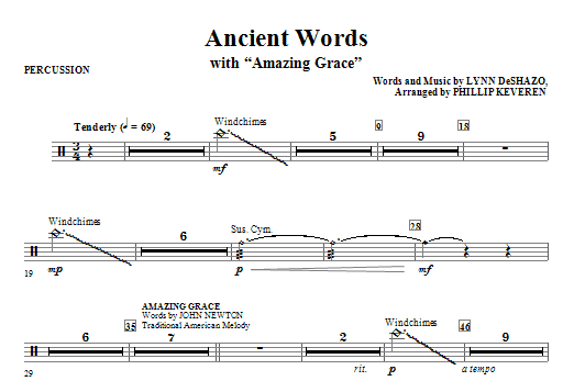 Ancient Words (with Amazing Grace) - Percussion (Choir Instrumental Pak)