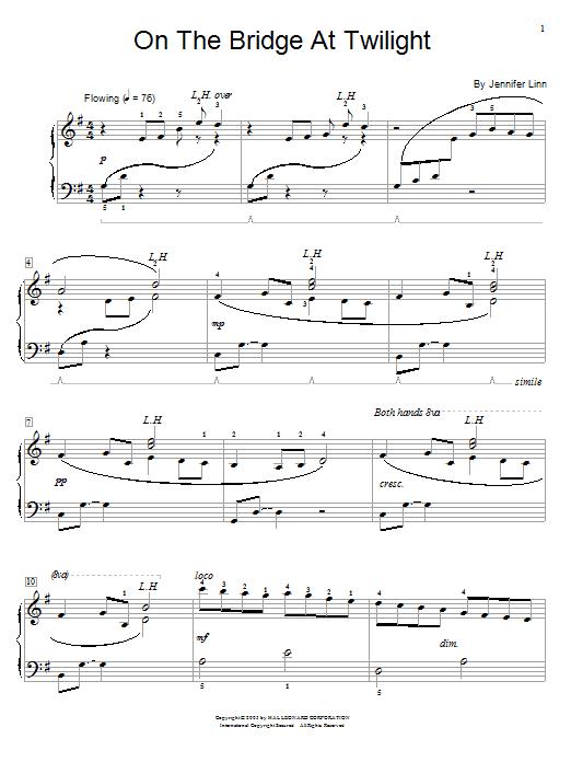 Partition piano On The Bridge At Twilight de Jennifer Linn - Autre