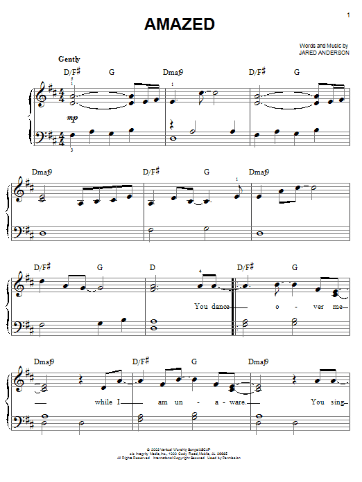 Amazed (Easy Piano)