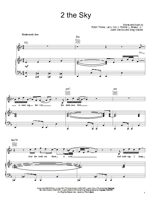 2 The Sky Sheet Music