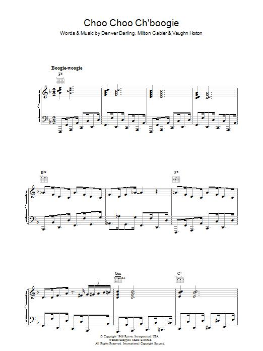 Choo Choo Ch'Boogie (Piano, Vocal & Guitar)