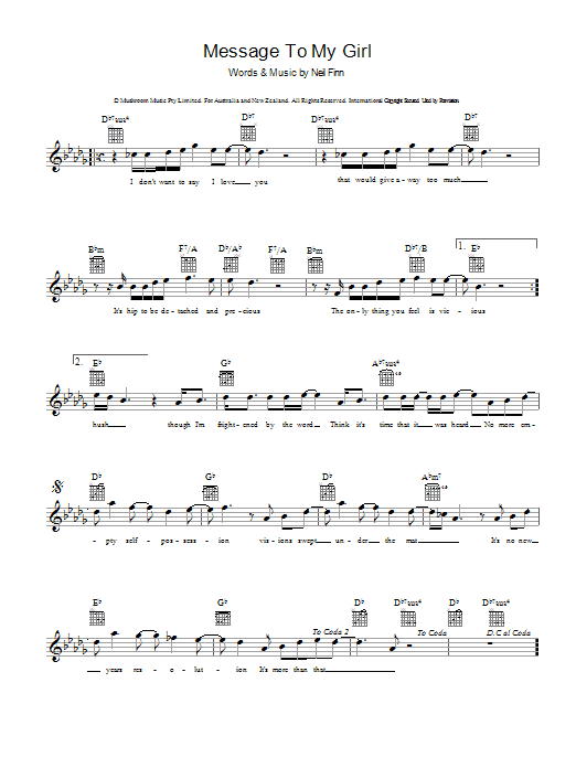 Message To My Girl (Guitar Tab)