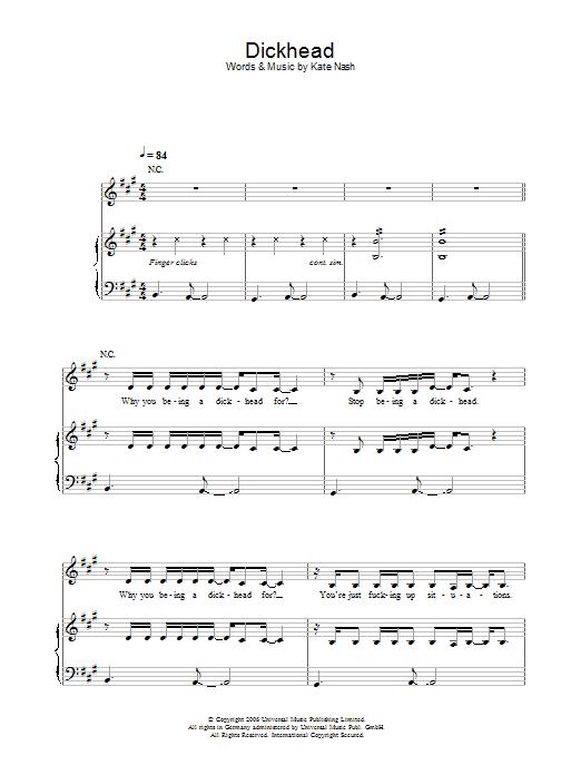 Dickhead Sheet Music