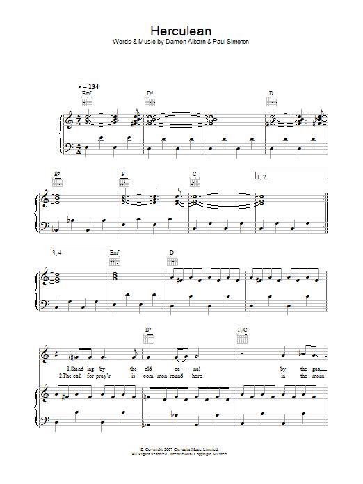 Herculean (Piano, Vocal & Guitar)