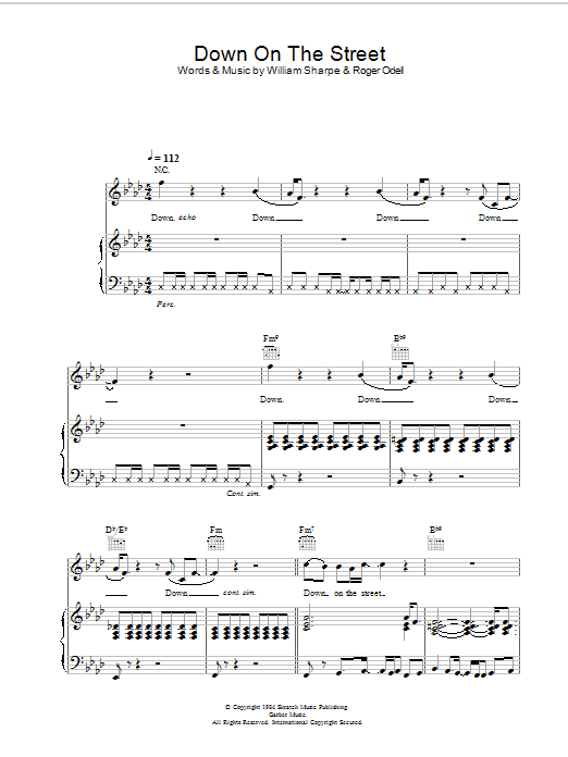 Down On The Street Sheet Music