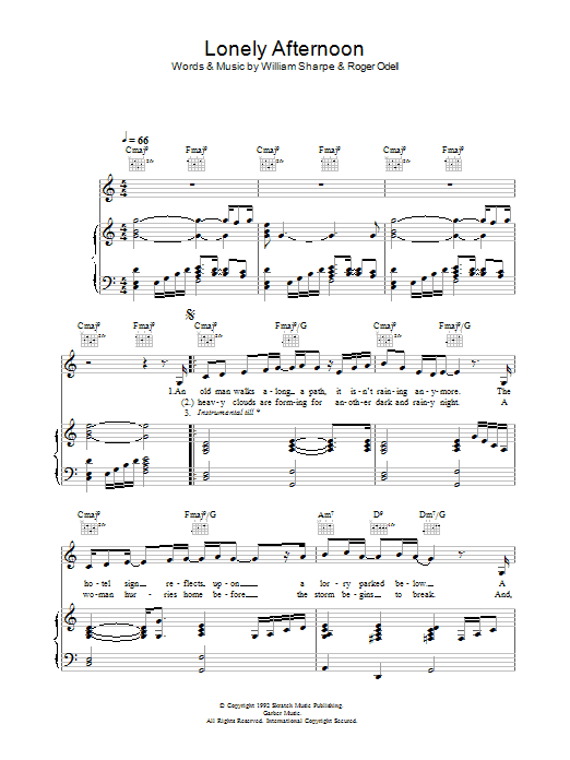 Lonely Afternoon Sheet Music