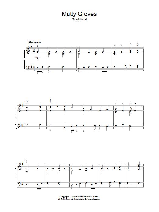 Matty Groves Sheet Music