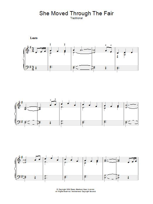 She Moved Through The Fair (Piano Solo)