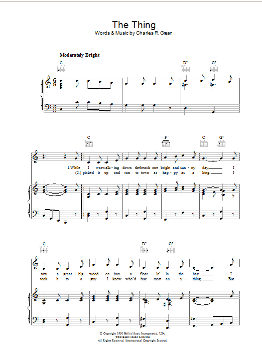 The Thing Sheet Music