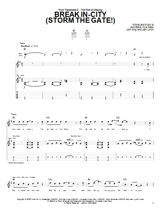 Break In-City (Storm The Gate!) Sheet Music