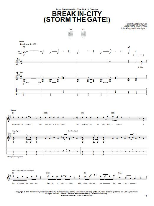 Break In-City (Storm The Gate!) (Guitar Tab)