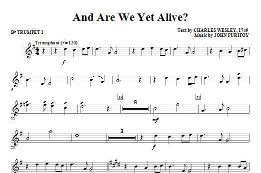 And Are We Yet Alive? - Bb Trumpet 1 Sheet Music