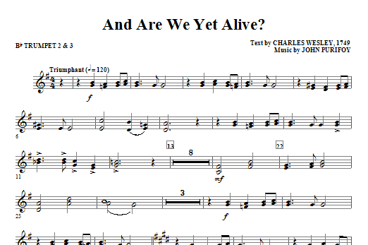 And Are We Yet Alive? - Bb Trumpet 2,3 (Choir Instrumental Pak)