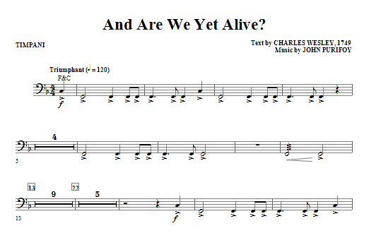 And Are We Yet Alive? - Timpani Sheet Music