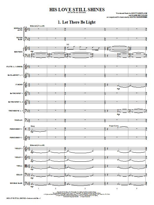 His Love Still Shines - Full Score Sheet Music