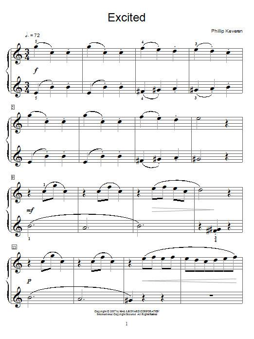 Excited Sheet Music