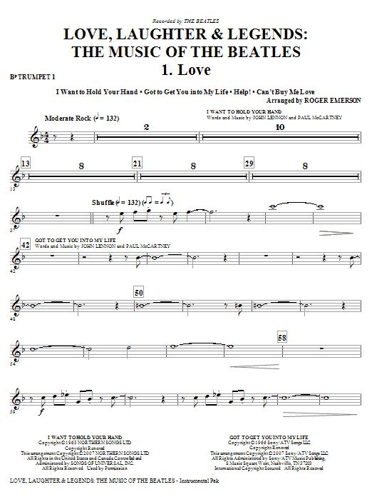 Love, Laughter & Legends - Bb Trumpet 1 (Choir Instrumental Pak)