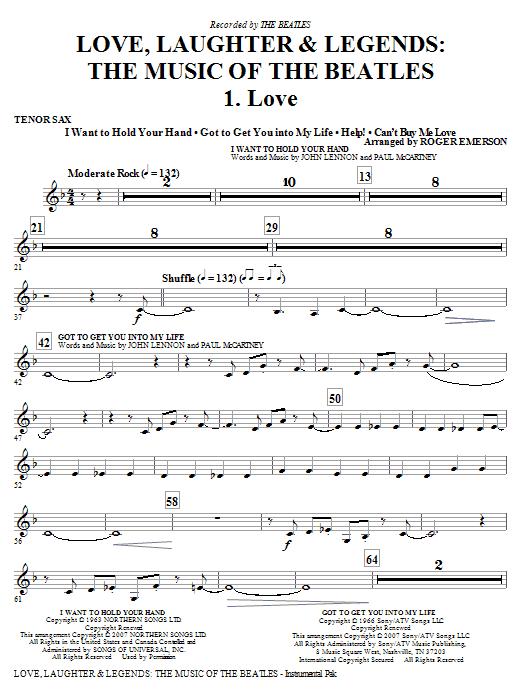 Love, Laughter & Legends - Tenor Sax Sheet Music