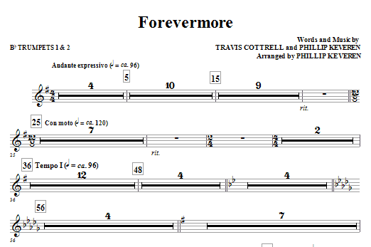 Forevermore - Bb Trumpet 1,2 Sheet Music