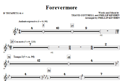 Forevermore - Bb Trumpet 3,4 (Choir Instrumental Pak)
