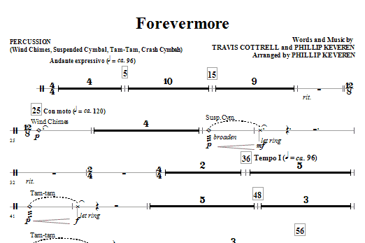 Forevermore - Percussion Sheet Music