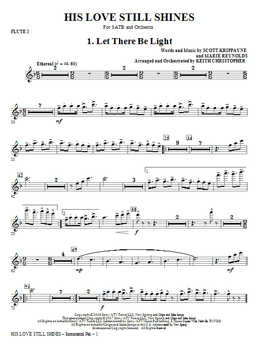 His Love Still Shines - Flute 2 Sheet Music