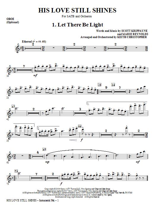 His Love Still Shines - Oboe Sheet Music