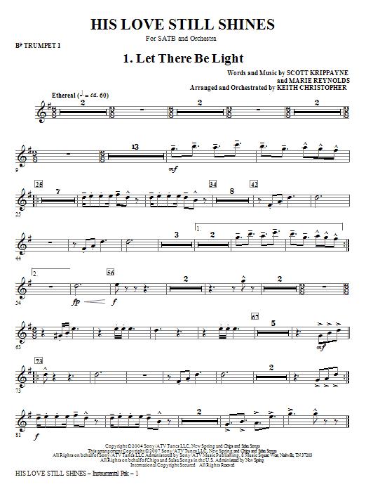 His Love Still Shines - Bb Trumpet 1 Sheet Music