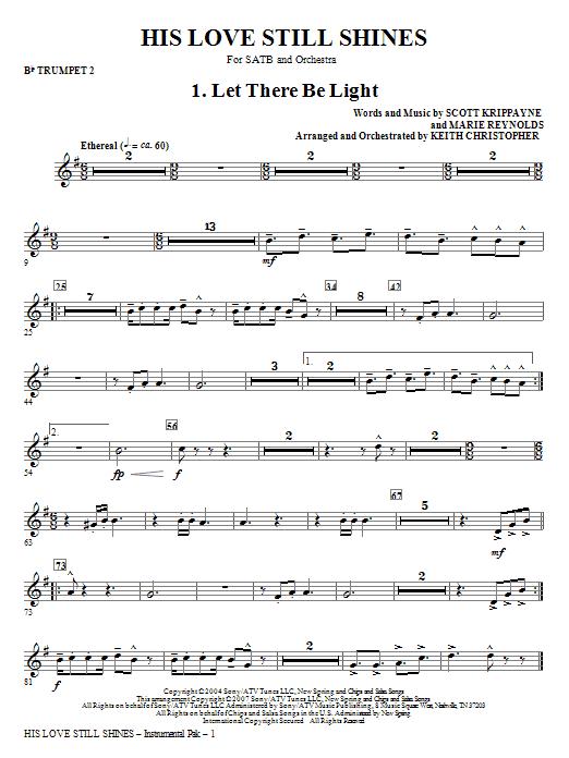 His Love Still Shines - Bb Trumpet 2 Sheet Music