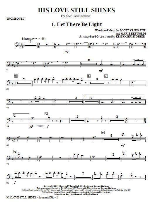 His Love Still Shines - Trombone 1 Sheet Music