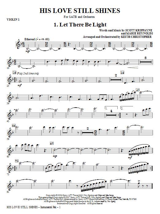 His Love Still Shines - Violin 1 Sheet Music