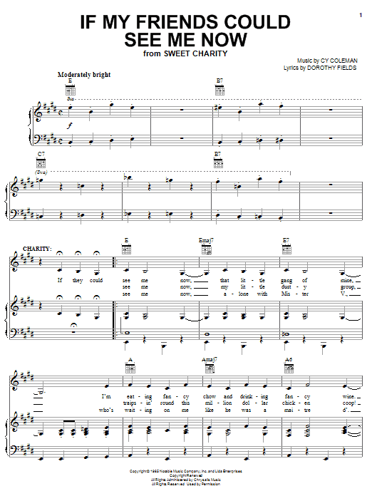 If My Friends Could See Me Now Sheet Music