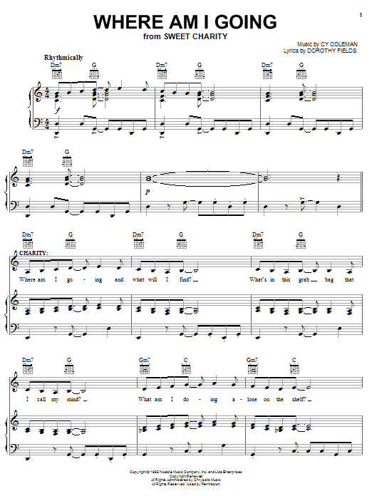 Where Am I Going Sheet Music