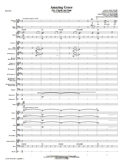 Amazing Grace (My Chains Are Gone) - Full Score (Choir Instrumental Pak)